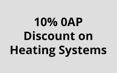 10% 0AP Discount on Heating Installations